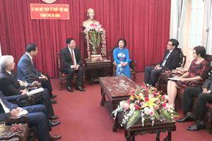Tân Tổng lãnh sự quán Lào thăm, chào xã giao MTTQ TP Đà Nẵng