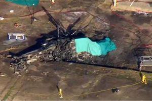 Khoảnh khắc trực thăng của ông Vichai phát nổ, lao xuống đất