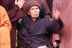 Thiền sư Thích Nhất Hạnh tịnh dưỡng ở chùa Từ Hiếu đến khi viên tịch