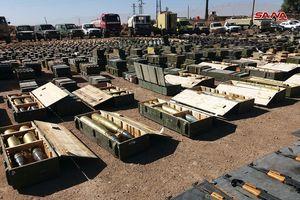 Quân đội Syria phát hiện kho vũ khí khủng của phiến quân