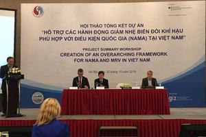 Đức giúp Việt Nam tăng cường năng lực chống biến đổi khí hậu