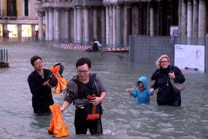 Thành phố nổi Venice bị... ngập lụt