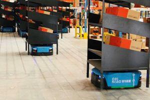 Trung Quốc có nhà kho robot 'khủng' cho ngày hội mua sắm Singles Day