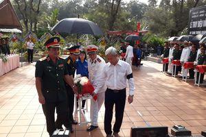 Truy điệu, an táng 13 hài cốt liệt sĩ tìm thấy tại Long Thành