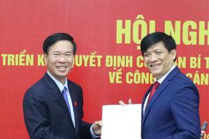 Thứ trưởng Bộ Y tế Nguyễn Thanh Long được điều động giữ chức Phó Trưởng Ban Tuyên giáo Trung ương