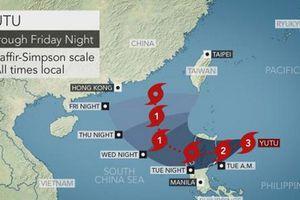 Đông Bắc Biển Đông mưa bão, gió mạnh do ảnh hưởng của bão Yutu