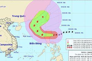 Siêu bão Yutu giật cấp 15 đã vào Biển Đông