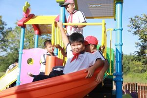 Tập đoàn SCG tặng sân chơi cho học sinh xã Long Sơn, Bà Rịa Vũng Tàu