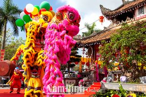 Nam Định: Những đội múa tứ linh ở Hải Hậu