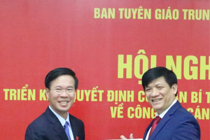 Đồng chí Nguyễn Thanh Long được điều động, bổ nhiệm giữ chức Phó Trưởng Ban Tuyên giáo Trung ương
