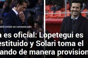 Real chính thức sa thải Julen Lopetegui