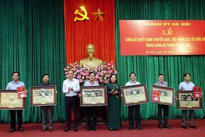 Thành ủy Hà Nội công bố quyết định chuyển giao, tiếp nhận các tổ chức Đảng