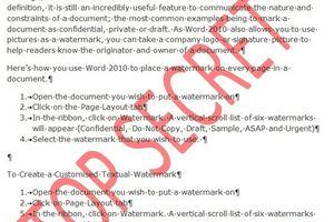 Thủ thuật Word: Chèn nhanh Watermark vào văn bản
