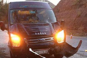 Hai bố con tử vong thương tâm khi va chạm xe khách