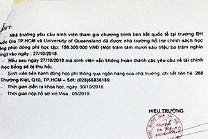 Giả mạo con dấu, chữ ký để kêu gọi phụ huynh nộp hàng trăm triệu đồng