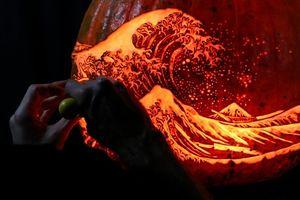 Ngắm kiệt tác hội họa tái hiện trên bí ngô theo phong cách Halloween
