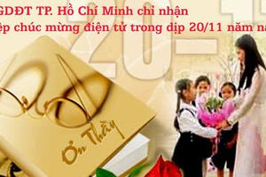 Sở GDĐT TP. Hồ Chí Minh không tổ chức tiếp đón chúc mừng trong dịp 20/11