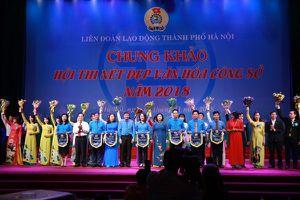 Chung khảo Hội thi Nét đẹp văn hóa công sở năm 2018 trong CNVCLĐ Thủ đô Hà Nội