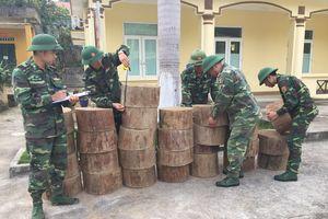 Thu giữ 27 khúc gỗ nghiến vô chủ