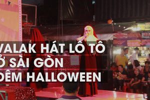Valak hát lô tô ở Sài Gòn đêm Halloween