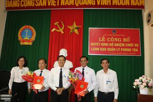 TAND tỉnh An Giang bổ nhiệm Chánh tòa Tòa Hình sự và Phó Chánh tòa Tòa Kinh tế