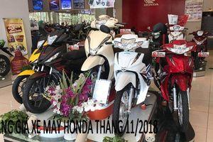 Bảng giá xe máy Honda mới nhất tháng 11/2018