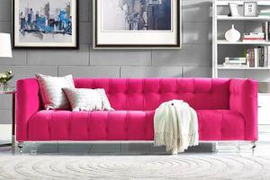 Ghế sofa nhung- điểm nhấn màu sắc tuyệt hảo cho phòng khách