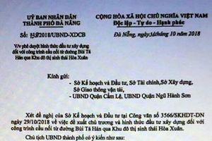 Đà Nẵng: Phát hiện văn bản giả chủ trương xây dựng cầu để thổi giá đất