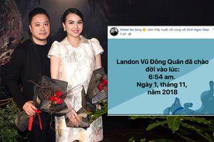 Vợ chồng Đinh Ngọc Diệp - Victor Vũ đón quý tử đầu lòng, sao Việt rần rần chúc phúc