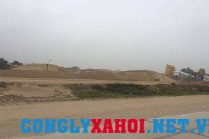 Vĩnh Phúc: Bãi tập kết cát, sỏi không phép tràn ngập các tuyến sông