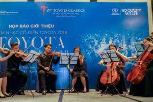Sắp diễn ra đêm nhạc cổ điển Toyota 2018 tại TP Hồ Chí Minh