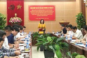 Phó Bí thư Thường trực Thành ủy Ngô Thị Thanh Hằng:Kiểm tra việc thực hiện 3 Nghị quyết quan trọng tại Sở Nội vụ