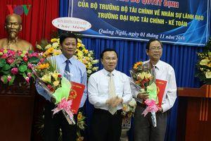 Bổ nhiệm Hiệu trưởng Trường Đại học Tài chính - Kế toán Quảng Ngãi