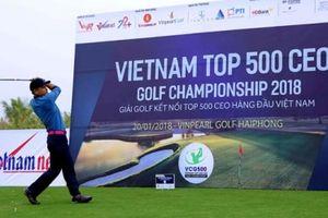 Hơn 100 lãnh đạo doanh nghiệp VNR500 tranh tài tại Golf Vietnam Top 500 CEO Golf Championship 2018