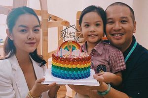 Sau ly hôn, Phạm Quỳnh Anh và Quang Huy cùng nhau tổ chức sinh nhật cho con gái
