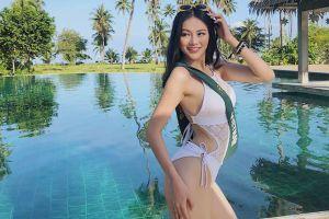 Phương Khánh chọn đầm cut-out gợi cảm cho chung kết Hoa hậu Trái đất