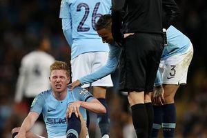 De Bruyne lại dính chấn thương, Man City lo 'tái mặt'