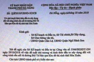 Xác minh vụ việc giả mạo chữ ký Chủ tịch UBND TP. Đà Nẵng