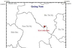 Động đất 2,9 độ richter tại khu vực Thủy điện Sông Tranh 2