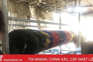 Cháy xưởng sản xuất chăn ga đệm ở Thạch Đồng