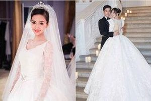 So sánh váy cưới gây bão mạng xã hội của Đường Yên - Angelababy, ai lộng lẫy hơn?