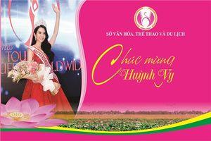 Sở Văn hóa, Thể thao và Du lịch chúc mừng Huỳnh Vy – Người đẹp Đất sen hồng
