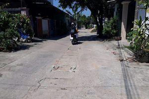 Sau khi báo Quảng Ngãi điện tử phản ánh: Đã khắc phục các hố sụp giữa đường