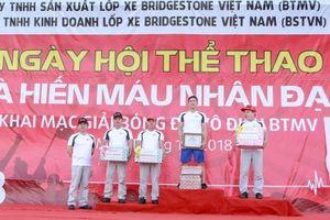 Ngày hội thể thao và hiến máu nhân đạo của Bridgestone Việt Nam