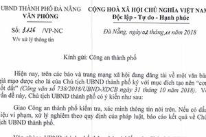 Điều tra vụ làm giả công văn chữ ký chủ tịch UBND Đà Nẵng tạo sốt đất ảo