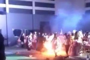 Nữ sinh Sư phạm Nghệ An bốc cháy khi tham gia lễ hội Halloween