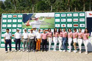 Các golfer hào hứng tranh tài tại Tiền Phong Golf Championship 2018