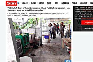 Cảnh sát Thái Lan: 'Quán chay bán thịt người' có thể là 'trò đùa Halloween'