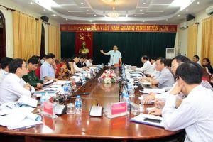 Ban Thường vụ Tỉnh ủy họp chỉ đạo nhiều nội dung quan trọng