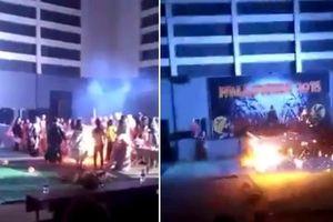 Hóa trang dự lễ hội Halloween, một nữ sinh viên bị bốc cháy